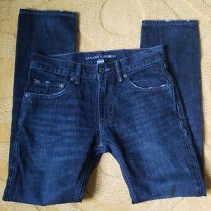 Banana Republic Slim Dark Distressed Jeans 28x30